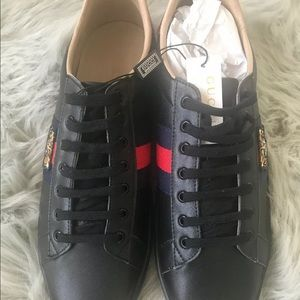 Gucci ace black tiger sneakers